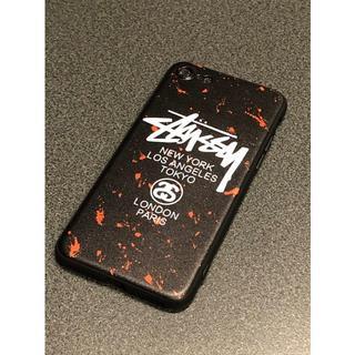 ステューシー(STUSSY)のSTUSSY ステューシー iPhone7.8対応 レッド&ブラック(iPhoneケース)