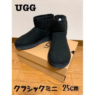 アグ(UGG)のUGG クラシックミニⅡ ブラックUS8(25cm) 新品(ブーツ)