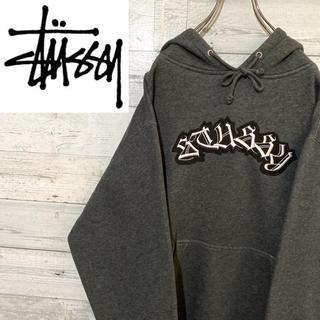 STUSSY - 【レア】ステューシー stussy☆刺繍ビッグロゴ 裏起毛 パーカー