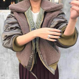 ジョンリンクス(jonnlynx)の【完売品】JANE SMITH BOA ma-1 リバーシブルミリタリーボア(ミリタリージャケット)