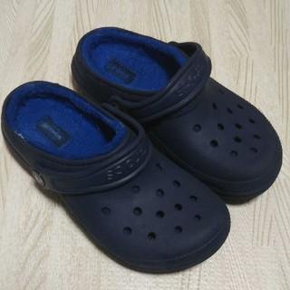crocs - クロックス ボア J2 ネイビー 青 冬