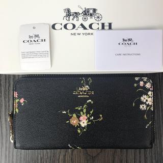 コーチ(COACH)のCOACH ミッドナイトマルチ アコーディオン フローラル レディース長財布(財布)