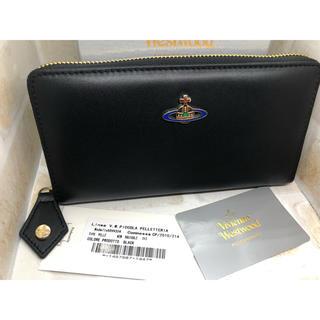 ヴィヴィアン ウエストウッド レザー 長財布 ファスナー式 黒 新品未使用