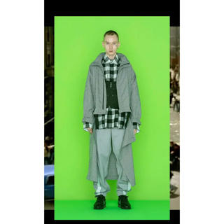 neonsign 19ss ginghamcheck daddy coat