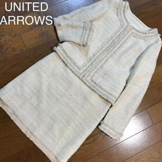 UNITED ARROWS - 美品♡ユナイテッドアローズ♡ツイードスカートスーツ セレモニースーツ ママスーツ