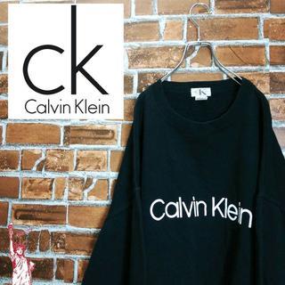 Calvin Klein - 【デカロゴ】【ビッグサイズ】カルバンクライン☆スウェット ブラック