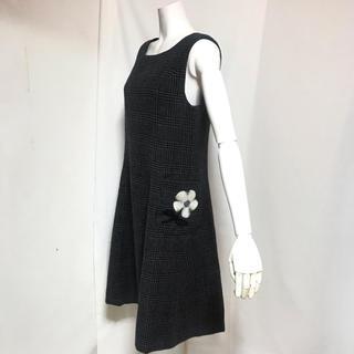 GALLERY VISCONTI - ギャラリービスコンティ ☆サイズ11号☆グレンチェックのジャンパースカート☆