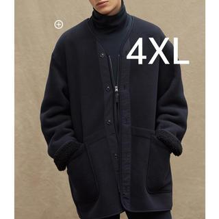 Engineered Garments - 4XL ネイビー フリースノーカラーコート ユニクロ