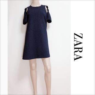 ZARA - ZARA オープンショルダー ワンピース♡トッコ TOPSHOP H&M