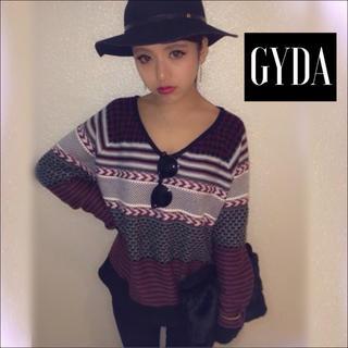ジェイダ(GYDA)のGYDA エスニック ボーダー ニット♡ENVYM EGOIST エモダ(ニット/セーター)