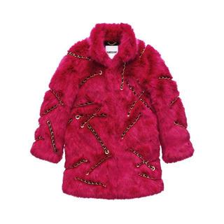 モスキーノ(MOSCHINO)のほぼ新品 Moschino x H&M Faux Fur Coat ファーコート(毛皮/ファーコート)