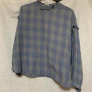 ダブルクローゼット(w closet)のw closet チェックブラウス(シャツ/ブラウス(長袖/七分))