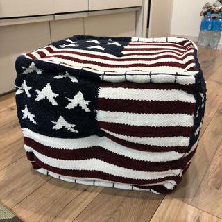 ダブルティー(WTW)のダブルティー WTW 星条旗 オットマン スツール 椅子(スツール)
