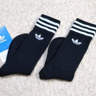 adidas - 新品 22-24cm adidas originals 靴下 黒×黒 2足組