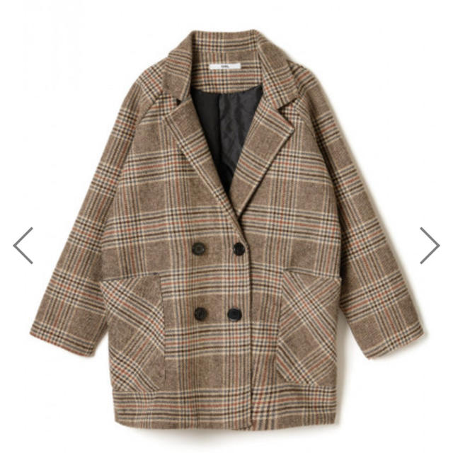 dholic(ディーホリック)のチェック コート moussy kastane SLY zara 韓国 レディースのジャケット/アウター(ダウンジャケット)の商品写真