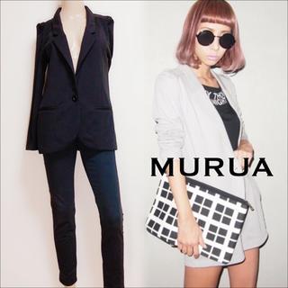 ムルーア(MURUA)のMURUA タックショルダージャケット テーラードジャケット♡EGOIST(テーラードジャケット)
