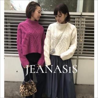 JEANASIS - JEANASIS ハイネックケーブルショートニット♡EMODA MURUA ザラ