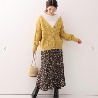 イエナスローブ(IENA SLOBE)の2019aw スローブイエナ フラワーレオパードアシメマーメイドスカート(ロングスカート)