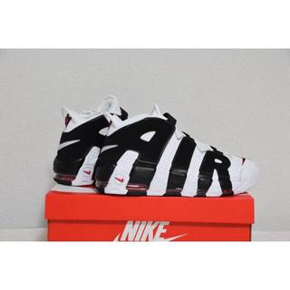 NIKE - 27.5 NIKE AIR MORE UPTEMPO WHITE BLACK