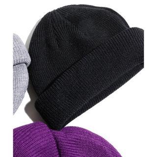 ウィゴー(WEGO)の【完売】WEGO 2WAYロールニットキャップ 黒 新品同様 ビーニー(ニット帽/ビーニー)