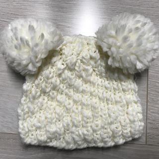 プティマイン(petit main)のポンポンビーニー 48〜50cm(帽子)
