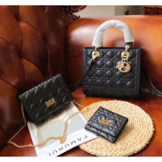 Dior - dior ショルダーバッグ 財布 3点セット  ブラック系