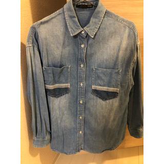 ヘザー(heather)のヘザー オーバーサイズ デニムシャツ フリーサイズ(シャツ/ブラウス(長袖/七分))