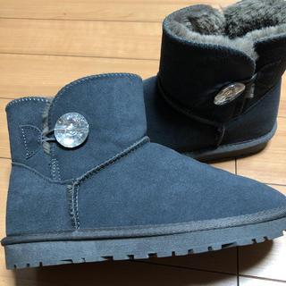 数量限定 本革レザームートンブーツ 23〜23.5cm(ブーツ)