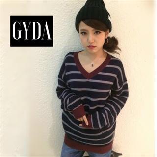 ジェイダ(GYDA)のGYDA ラインピッチボーダーニット♡ムルーア ENVYM エモダ  ジーナシス(ニット/セーター)