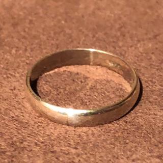 甲丸 シルバー925 リング  10号 ユニセックス メンズピンキー 銀 指輪(リング(指輪))