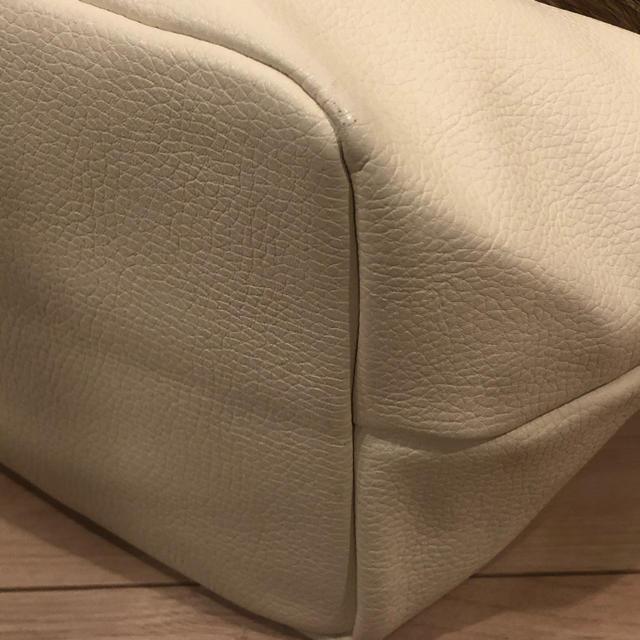 Chesty(チェスティ)の【Liala/リアラ】ラクーンファートートバック★オフホワイト★美品 レディースのバッグ(ハンドバッグ)の商品写真