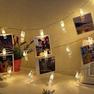 Chamsaler 写真飾りライト 写真クリップ ストリングスライト 2M