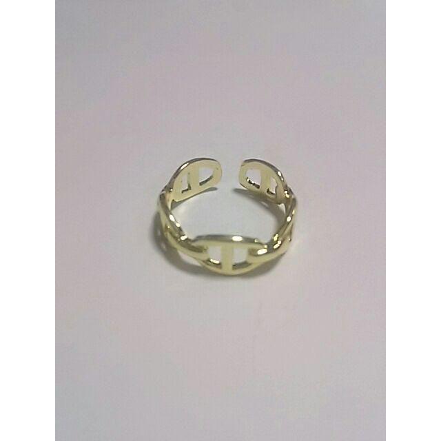 Hチェーンリング 272 #ゴールド メンズのアクセサリー(リング(指輪))の商品写真