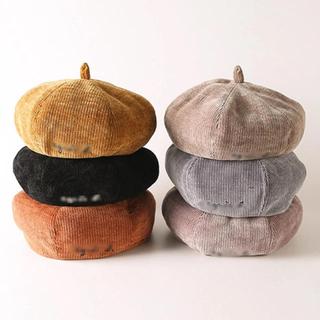 アニエスベー(agnes b.)のロゴ刺繍入り ベレー帽(ハンチング/ベレー帽)