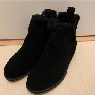 エミュー(EMU)のEMU新品撥水ムートンブーツ 黒22cm(ブーツ)