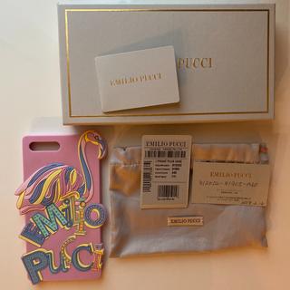 エミリオプッチ(EMILIO PUCCI)の【美品】エミリオプッチ iPhone7plus フラミンゴケース(iPhoneケース)