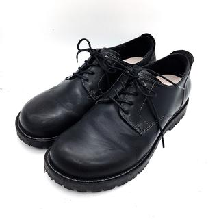 ビルケンシュトック(BIRKENSTOCK)の美品 メンズ ヒモ靴 黒 ブラックコンフォート 40 レザーシューズ L 黒(その他)