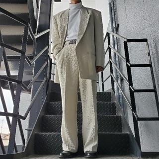 JOHN LAWRENCE SULLIVAN - 菅田将暉風 ヴィンテージ セットアップ ダブルスーツ ホワイト アイボリー