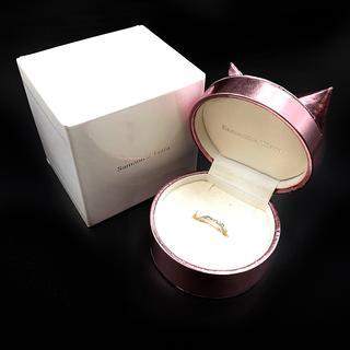 サマンサティアラ(Samantha Tiara)の指輪 リング ホワイト ゴールド ケース ダイヤ K10 WG 0.03(リング(指輪))