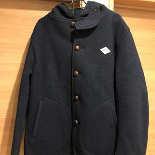 DANTON - ダントン ウールモッサ フード付き シングルジャケット ネイビー メンズ