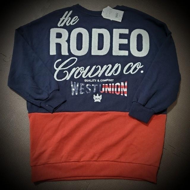 RODEO CROWNS WIDE BOWL(ロデオクラウンズワイドボウル)のRODEO CROWNS ロデオ 109 阿倍野 限定 スウェットワンピ レディースのワンピース(ミニワンピース)の商品写真