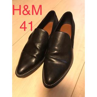 エイチアンドエム(H&M)のレザー スエード ローファー H&M(ローファー/革靴)