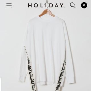 ホリデイ(holiday)のholiday テープロゴTシャツ(Tシャツ(長袖/七分))