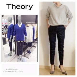 theory - theory☆セオリー☆クロップド パンツ☆チェック☆テーパードパンツ☆ズボン