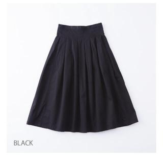 カトー(KATO`)のグランマ ママドーター チノプリーツスカート 黒(ロングスカート)