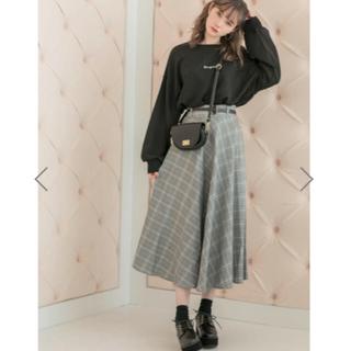 グレイル(GRL)のベルト付きチェックスカート グレー(ひざ丈スカート)