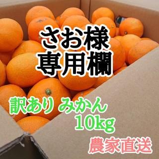 さお様専用欄 訳あり みかん 10kg  農家直送!h(フルーツ)