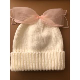 プティマイン(petit main)のプティマイン リボン付きニット帽(帽子)