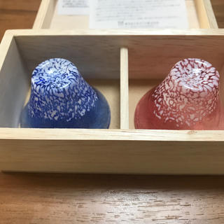 トウヨウササキガラス(東洋佐々木ガラス)の【新品】おちょこ 招福杯 富士山型(食器)