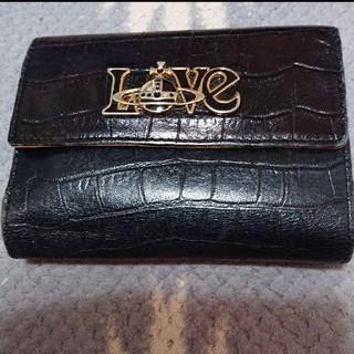 お値下げ!Vivienneヴィヴィアンウエストウッド クロコ調折り財布 がま口黒